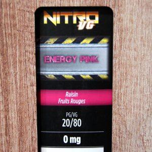 Refill - ENERGY PINK de Nitro VG