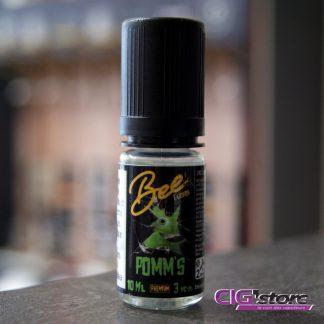 Pomm's Bee E liquids 10ml Une saveur pomme verte. Une vape qui donne l'illusion du croquant légèrement acide, juteux et appétissant. PG/VG 50/50